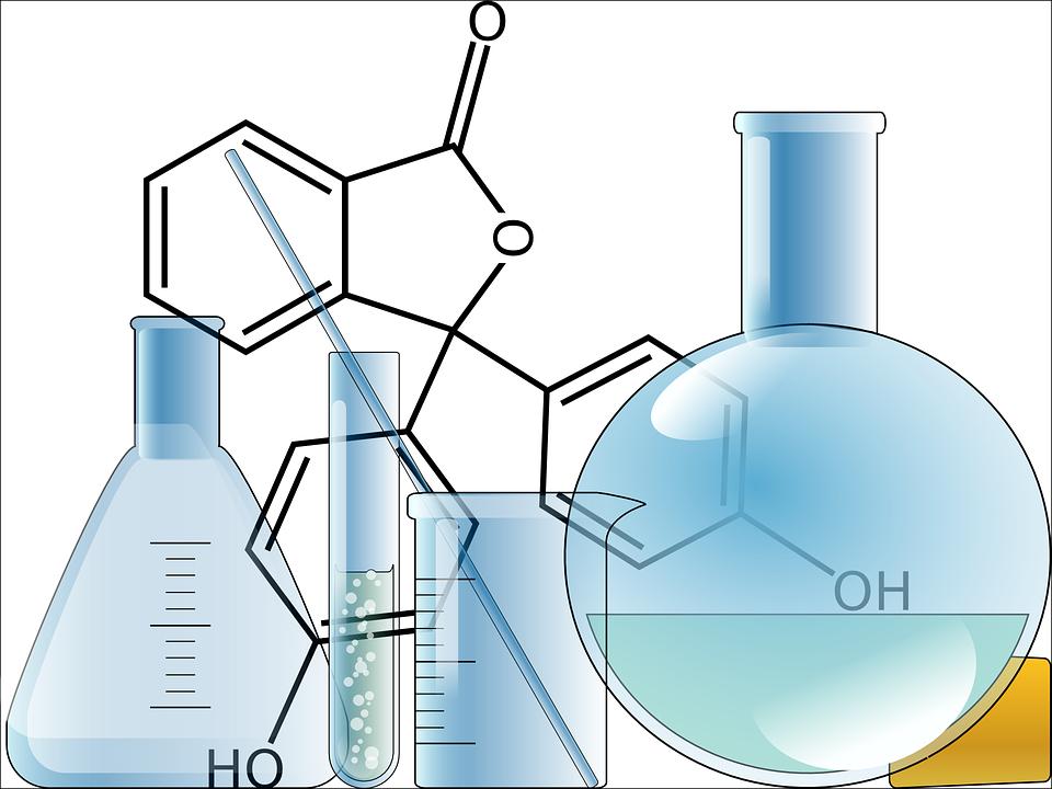 Beaker chemistry formula free vector graphic on pixabay beaker chemistry formula glassware flasks bottles ccuart Images