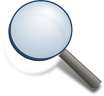 magnifying glass, loupe, search