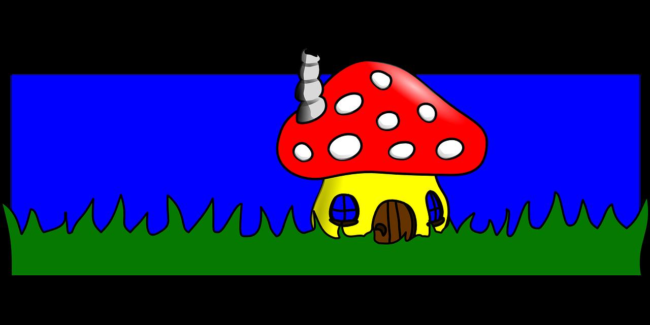 Jamur Rumah Kartun Gambar Vektor Gratis Di Pixabay