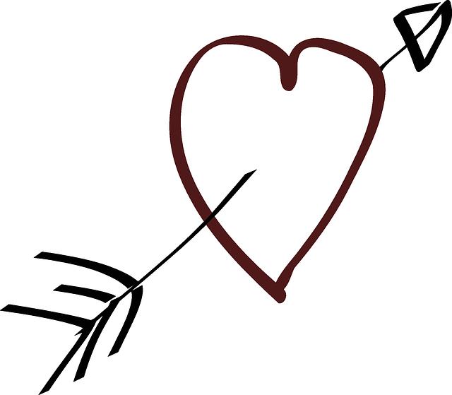 love heart arrow free vector graphic on pixabay. Black Bedroom Furniture Sets. Home Design Ideas