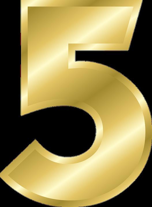 número 5 alfabeto gráficos vectoriales gratis en pixabay