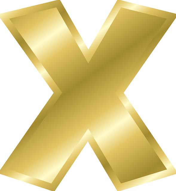 Free Vector Graphic Letter X Lowercase Alphabet Abc