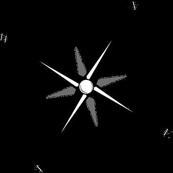 Compass Map Navigation Wind Rose R