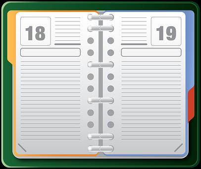 Organizer, Datebook, Diary, Agenda