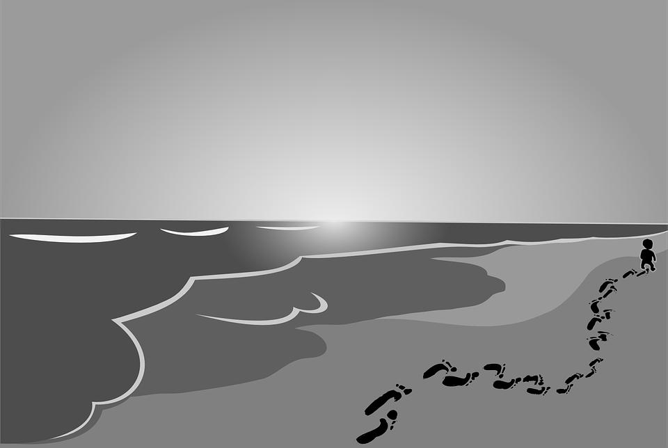 Pantai Bayi Anak Jejak Gambar Vektor Gratis Di Pixabay