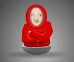 monk, friar, hooded