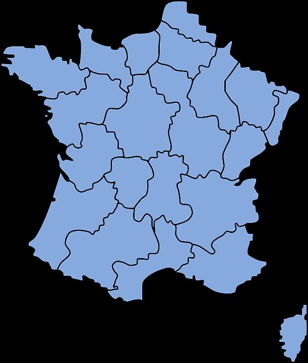 Frankrike Europa Karta Gratis Vektorgrafik Pa Pixabay