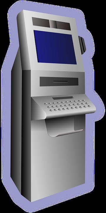 Geldautomaten Terminal Geld 183 Kostenlose Vektorgrafik Auf