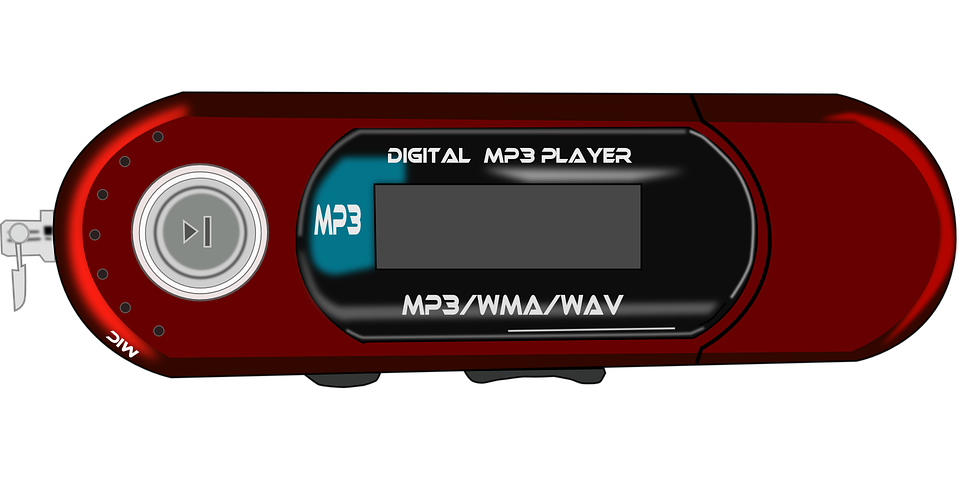 Mp3 Player Usb Music Red