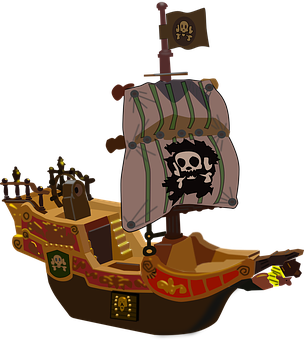 Ship Boat Pirate Buccaneer Corsair Transpo