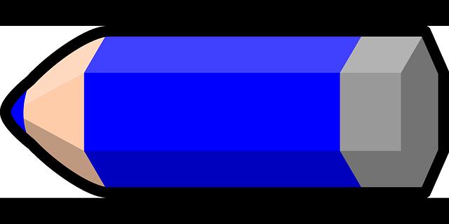 Lápiz Azul Color · Gráficos Vectoriales Gratis En Pixabay