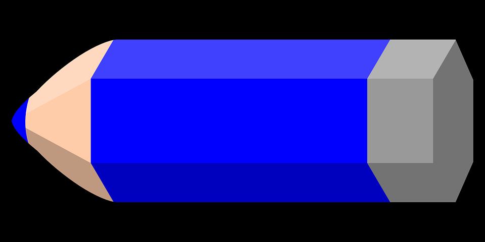 Lápiz Azul Color · Gráficos vectoriales - 31.0KB