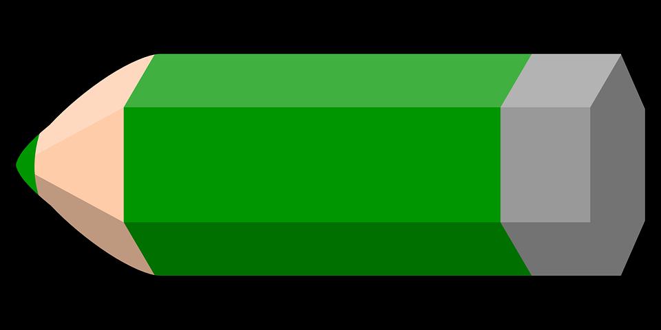Dibujos Animados De Color Verde: Lápiz Verde Color · Gráficos Vectoriales Gratis En Pixabay