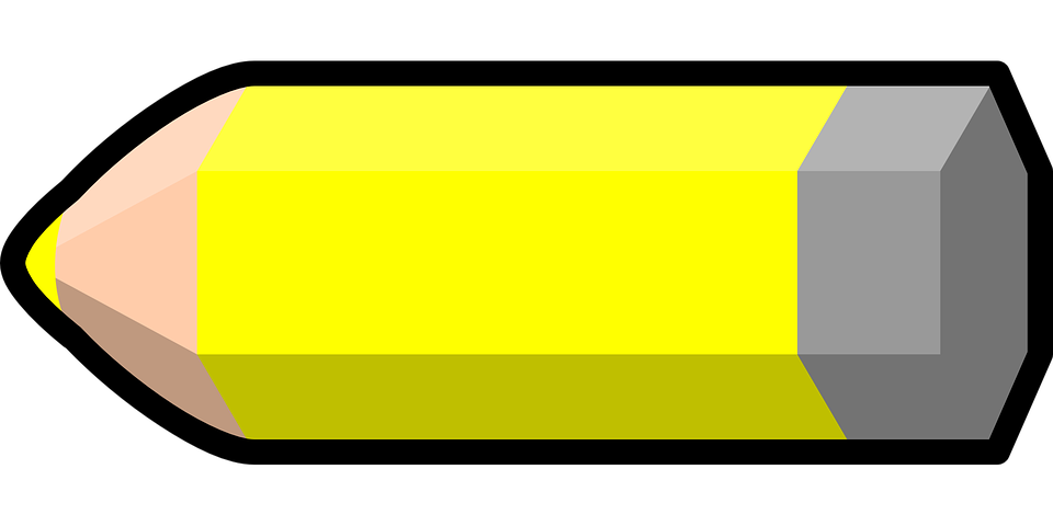 Pencil Yellow Colored Crayon Paint Design Draw