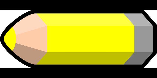 Pencil And In Color Camo Clipart: Vector Gratis: Lápiz, Amarillo, Lápiz Color