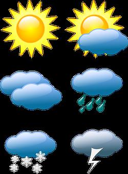 Previsão Do Tempo, Condições, Sol, Nuvem