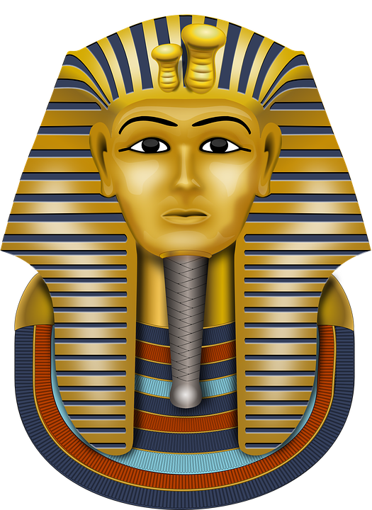Free vector graphic tutankhamun gold mask mask free for King tut mask template