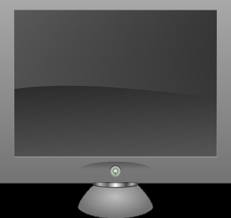 Картинка на мониторе с тенью