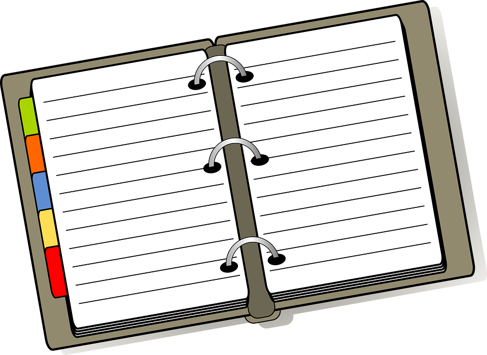 Free Vector Graphic Notebook Diary Planner Organizer