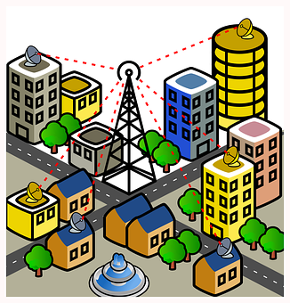 City, Wireless, Connection, Mobile