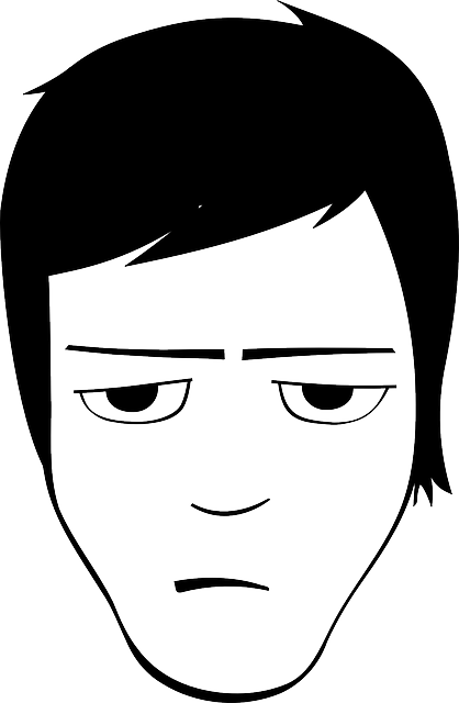 free vector graphic bored man human face avatar