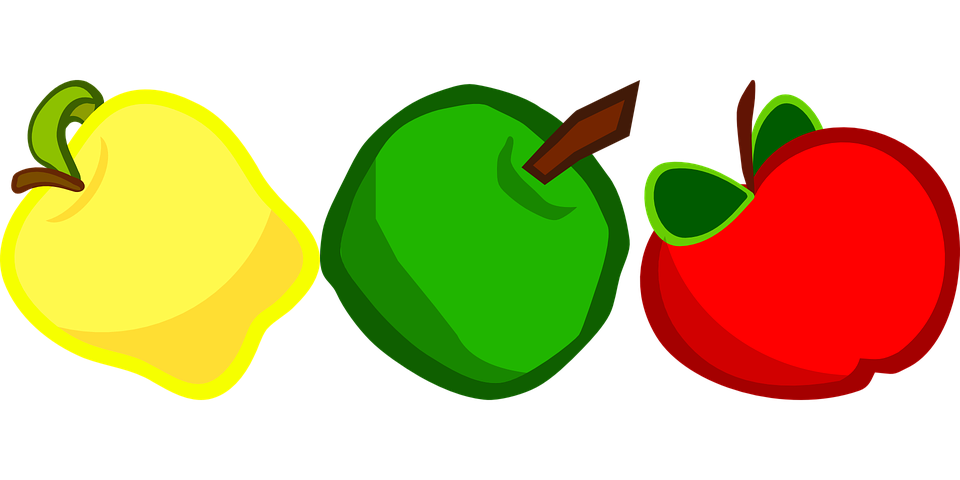 green and red apples clipart. apples, fruit, vitamins, red, green and red apples clipart