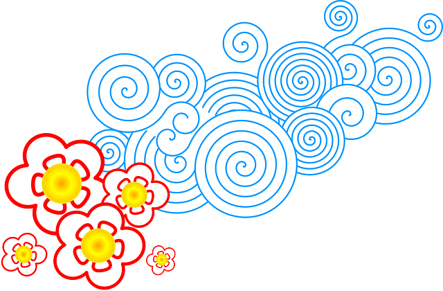 Free Vector Graphic: Flowers, Spring, Circles, Spirals