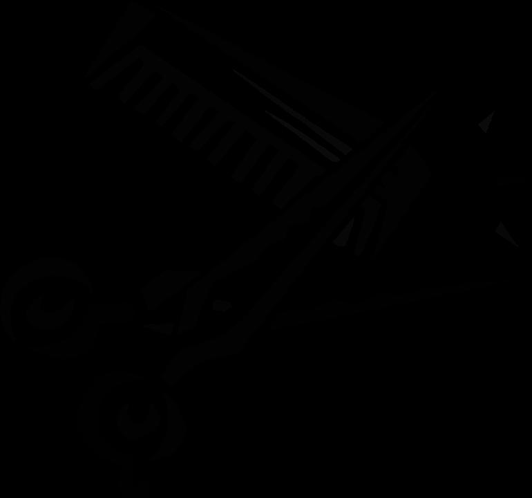 Schere kamm werkzeug kostenlose vektorgrafik auf pixabay for Simbolo barbiere