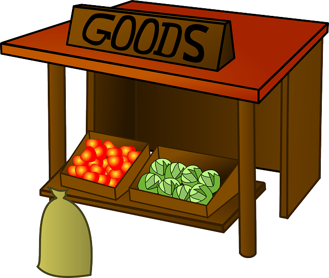 Market Goods Stall · Free vector graphic on Pixabay