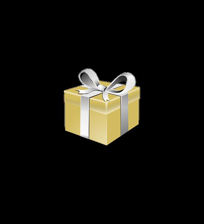 Image Vectorielle Gratuite Prsente Cadeau Or Arc