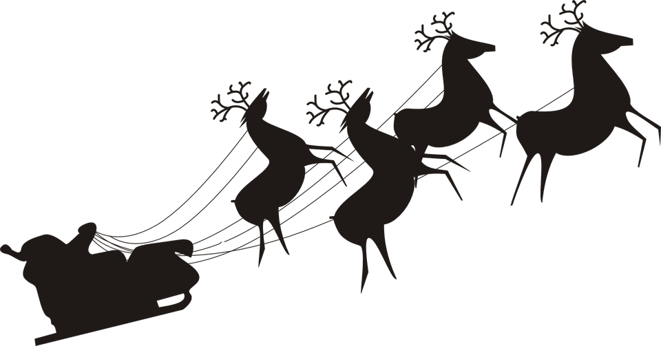 Santa claus silhouette png - photo#13