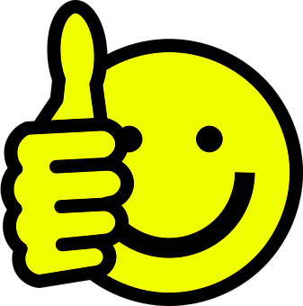 Smiley, Visage, Heureux, Thumbs Up