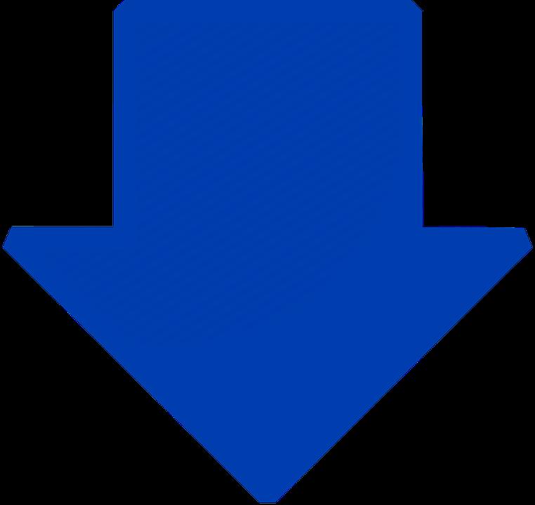 arrow blue down  u00b7 free vector graphic on pixabay Beautiful Flower Clip Art Flower Petal Clip Art