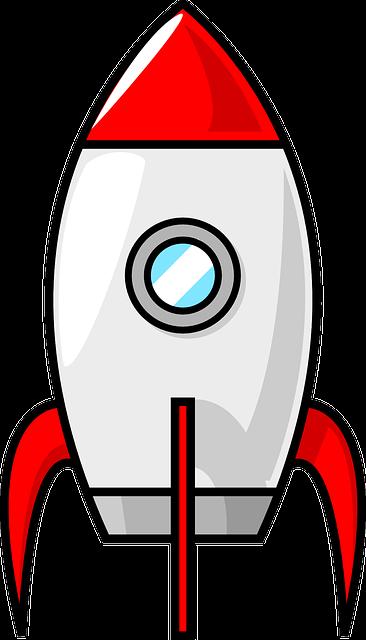 Red Rocket Icon Rakete Raumschi...