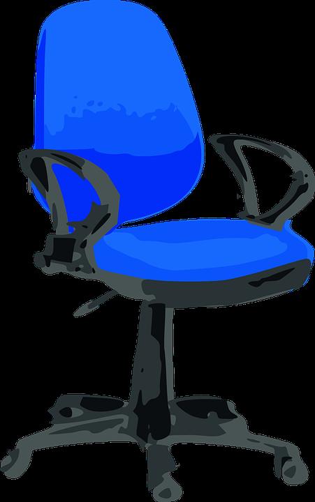 Chaise De Bureau Bleu Titulaire La Chaire Couleur