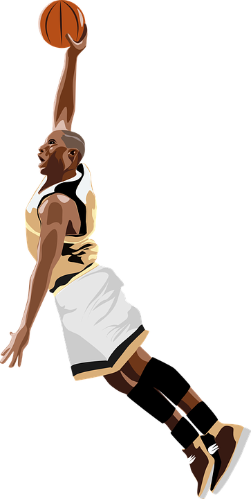 basketball dunking nba free vector graphic on pixabay rh pixabay com Cartoon Basketball Players NFL Clip Art