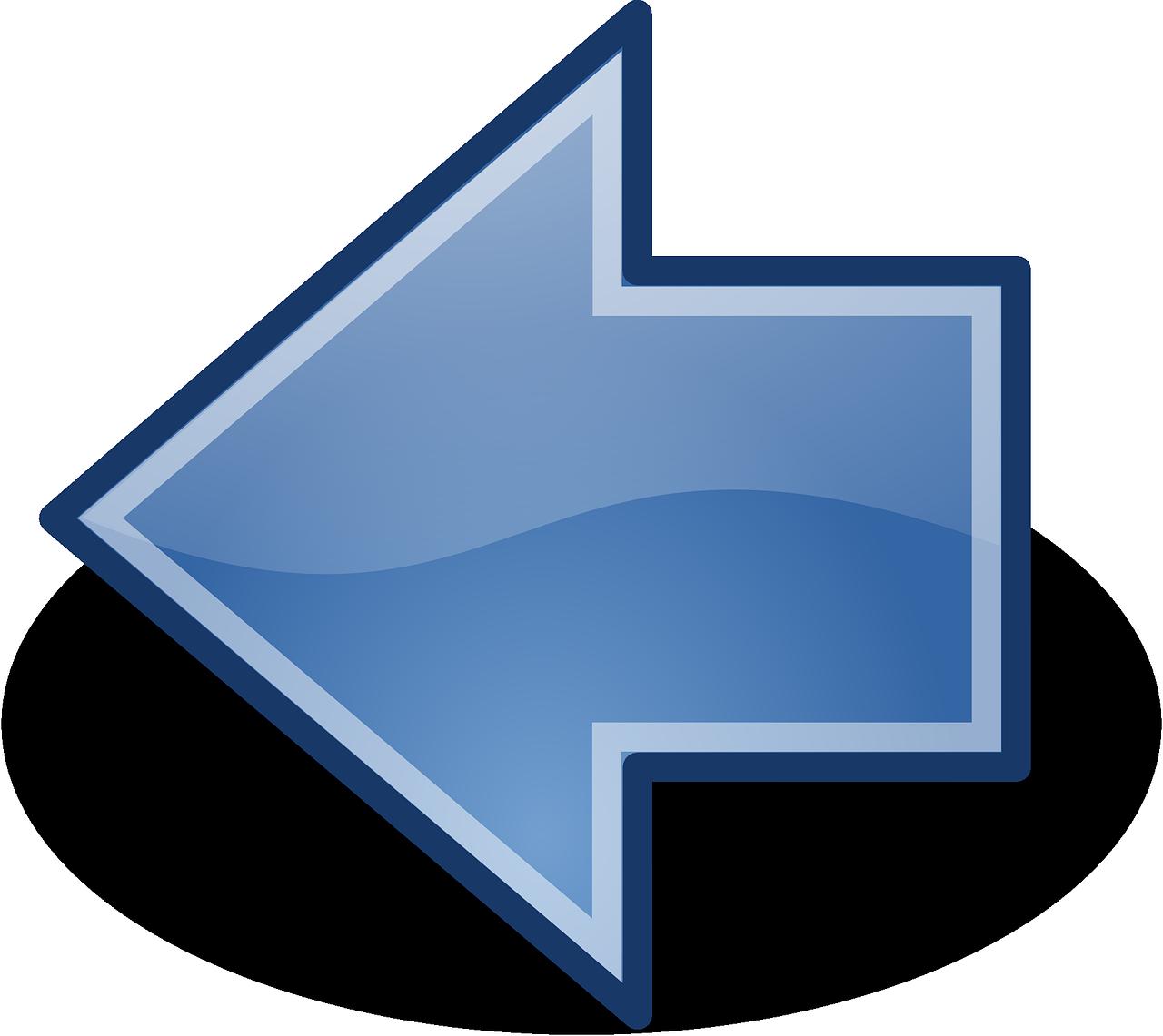 Frecce Blu Sinistra - Grafica vettoriale gratuita su Pixabay