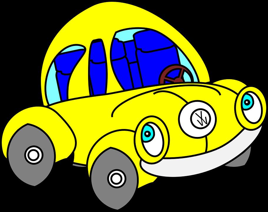 kostenlose vektorgrafik k fer auto lustig gelb kostenloses bild auf pixabay 147807. Black Bedroom Furniture Sets. Home Design Ideas