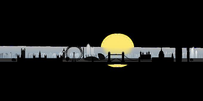 London Silhouette Skyline City Lond