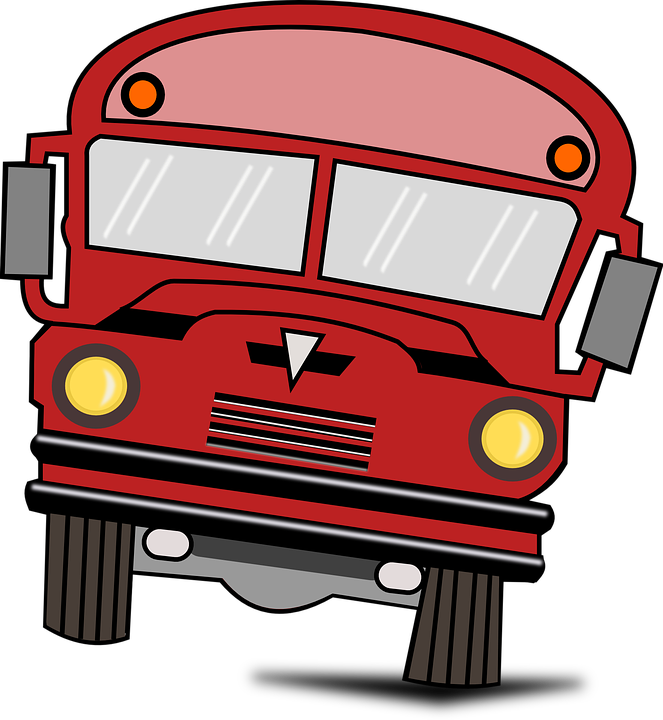 school bus cars free vector graphic on pixabay rh pixabay com Red Fire Truck Clip Art Red Fire Truck Clip Art