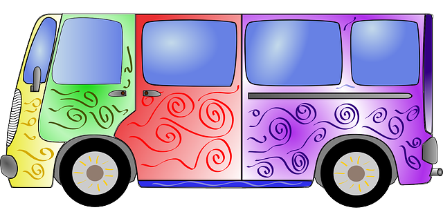 bus colorful hippie  u00b7 free vector graphic on pixabay