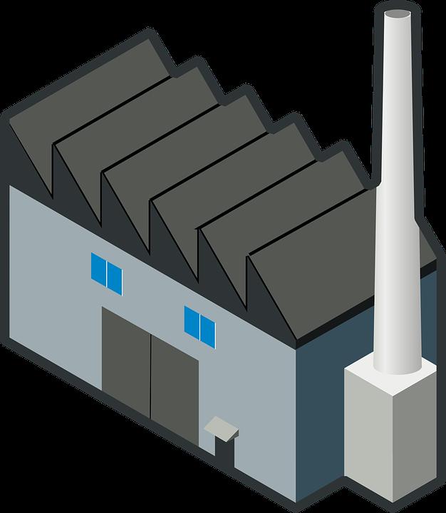 Facility Plumbing Transparent Background : Ücretsiz vektör çizim sanayi bina fabrika baca