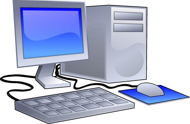 Image vectorielle gratuite poste de travail ordinateur image gratuite sur pixabay 147953 for Photos gratuites travail bureau