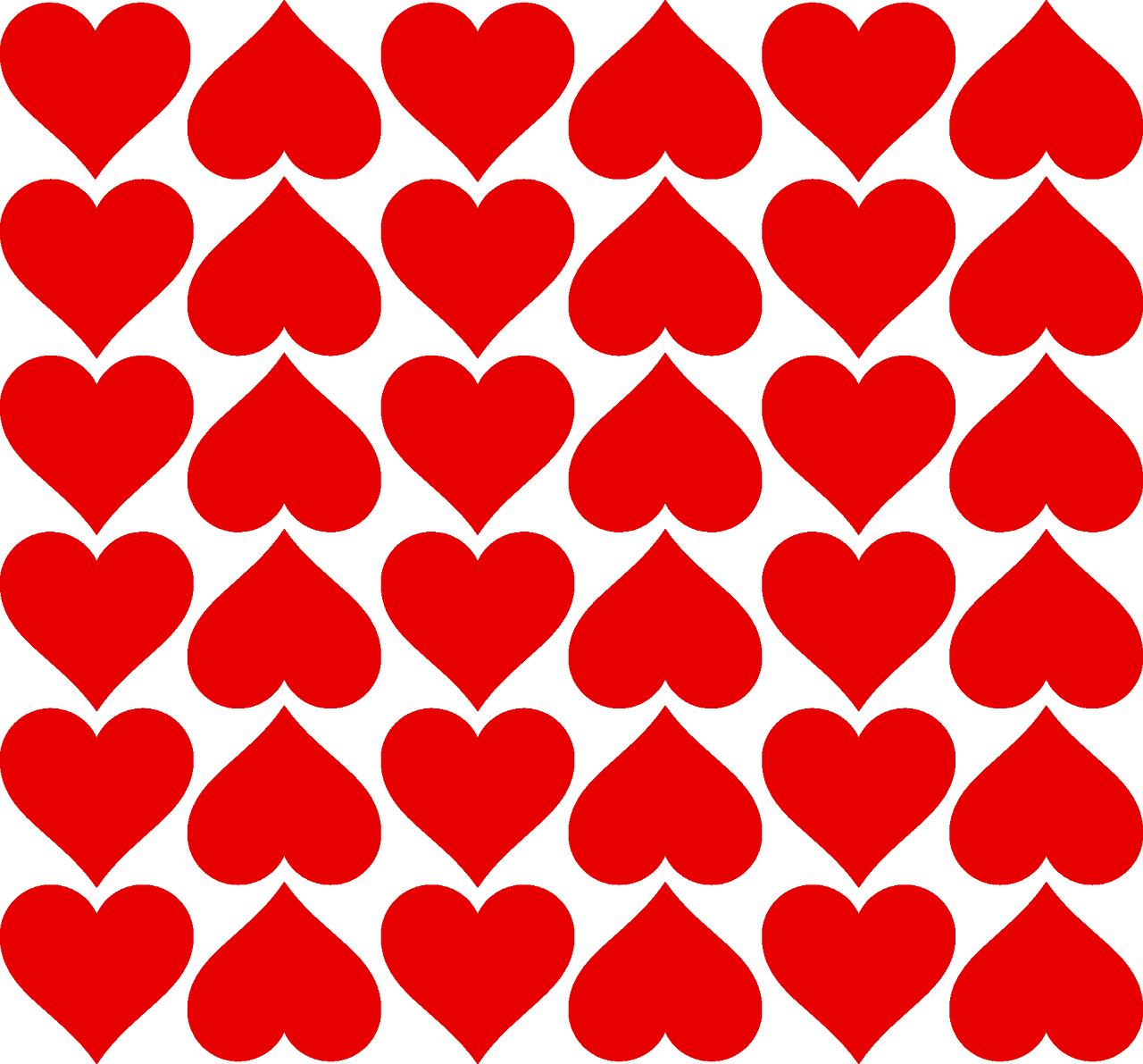 Валентинки, шаблон картинки с сердечками