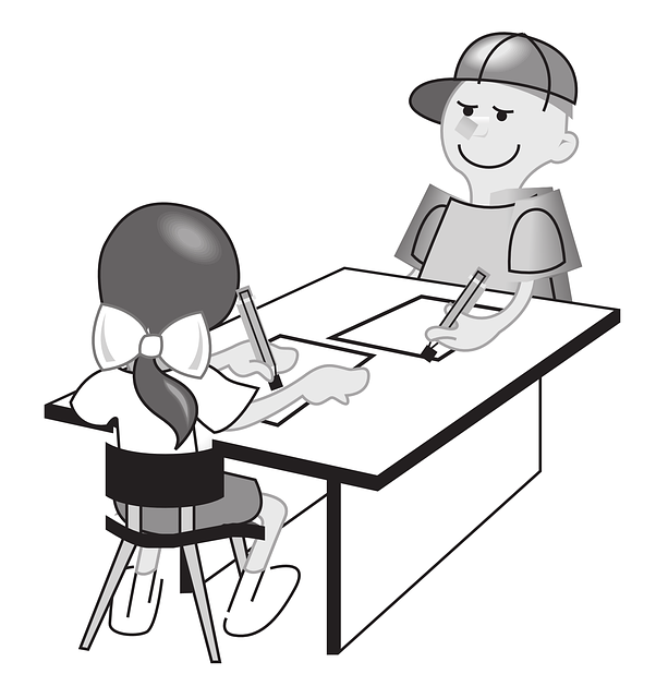 Black Student Sitting Clipart