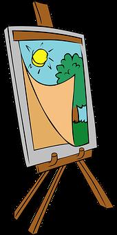 Chevalet, Peinture, Arts, Trépied