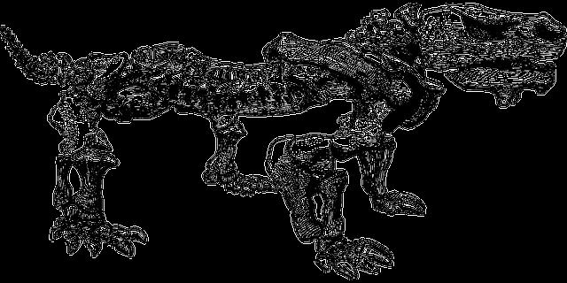 Kleurplaat Fractal Dinosaur Fossil Paleontology 183 Free Vector Graphic On Pixabay