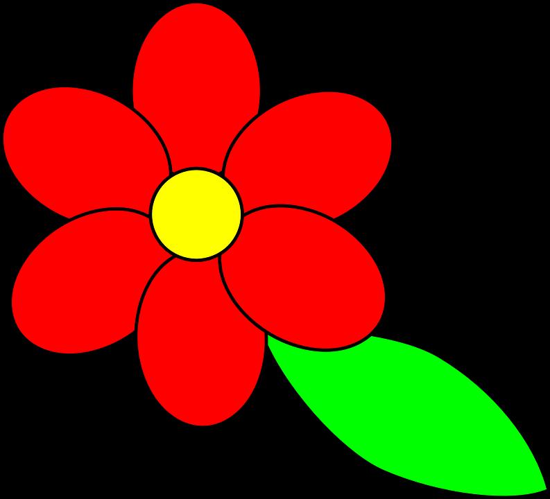 Bunga Sederhana Merah Gambar Vektor Gratis Di Pixabay