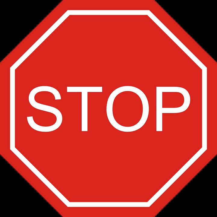 停止, 道路標識, 禁止, 注意