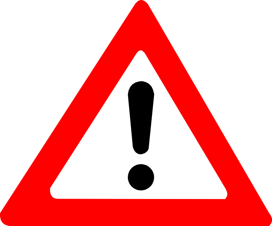 attention warning exclamation mark free vector graphic on pixabay rh pixabay com red exclamation point clipart exclamation point clipart free